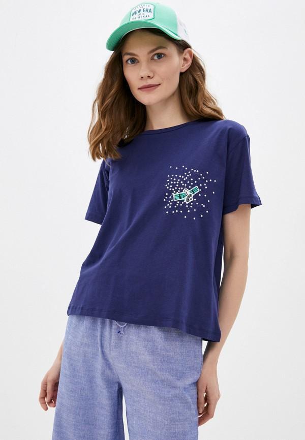 женская футболка trendyol, синяя