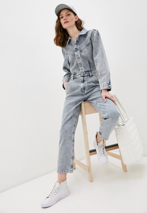 женский джинсовые комбинезон trendyol, серый