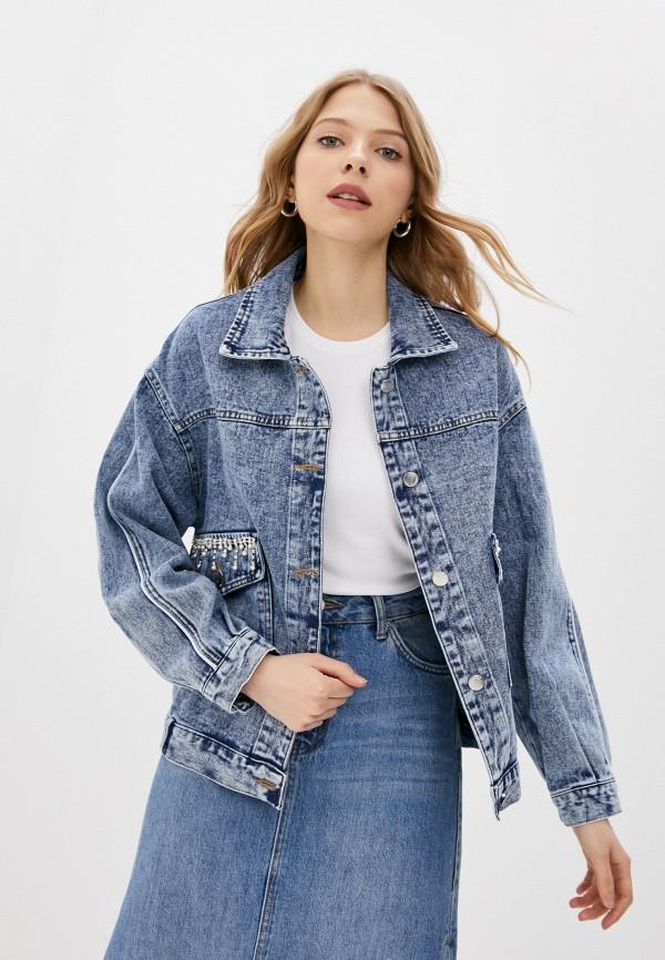 женская джинсовые куртка trendyangel, синяя