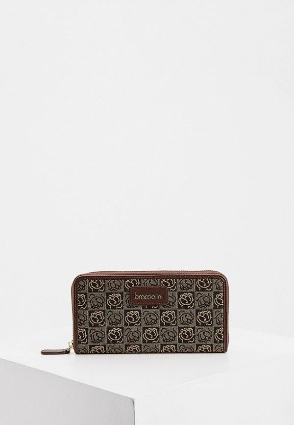 женский кошелёк braccialini, коричневый