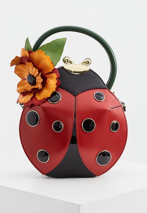 женская сумка braccialini, красная