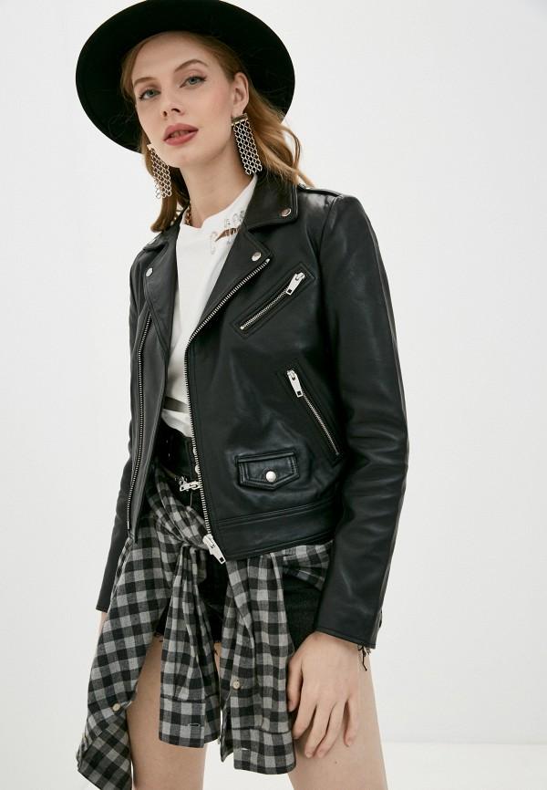 женская куртка the kooples, черная