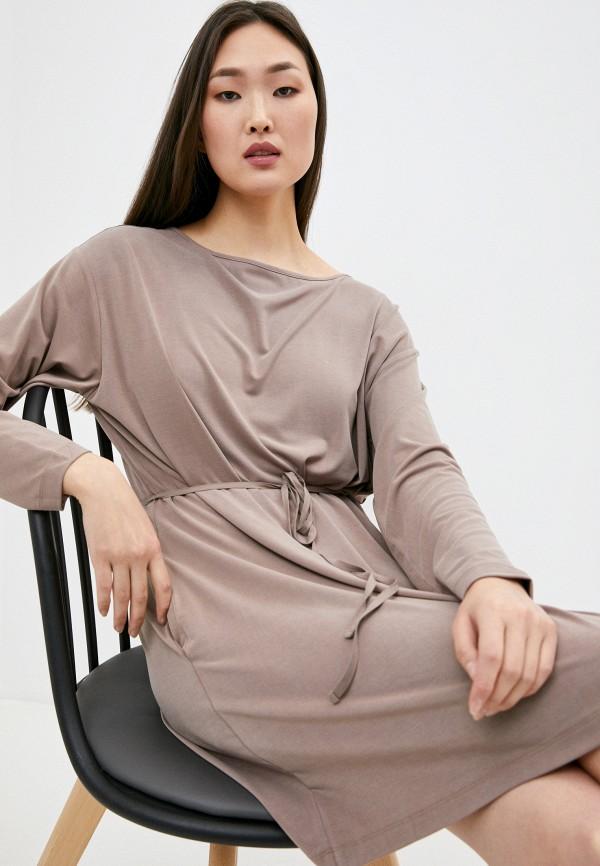женское платье french connection, бежевое