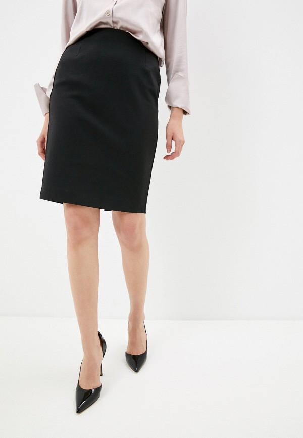 женская прямые юбка french connection, черная