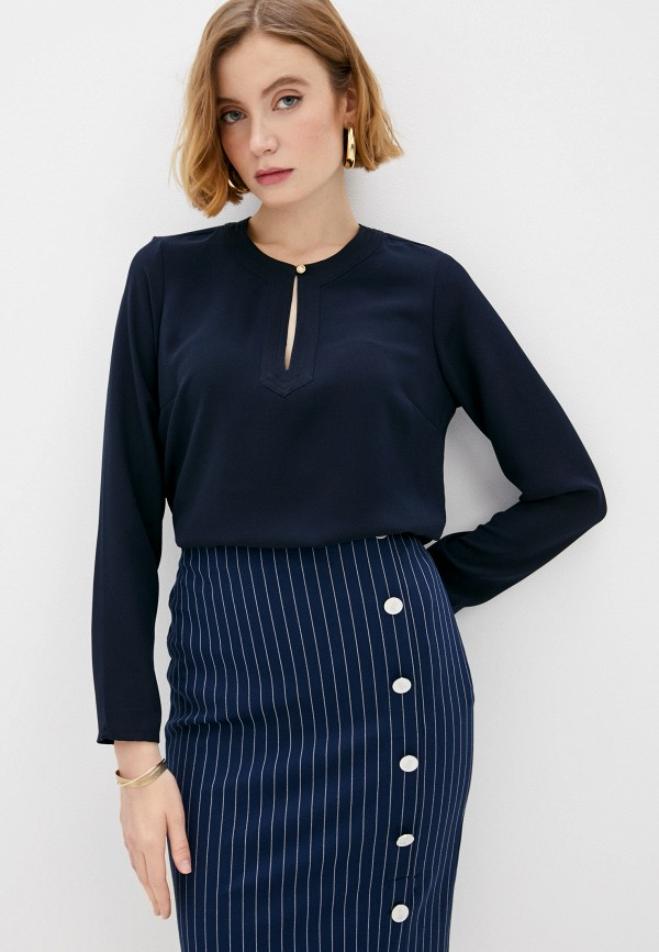женская блузка lauren ralph lauren, синяя