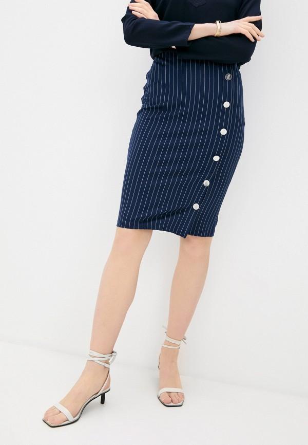 женская зауженные юбка lauren ralph lauren, синяя