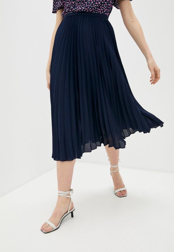 женская плиссированные юбка lauren ralph lauren, синяя
