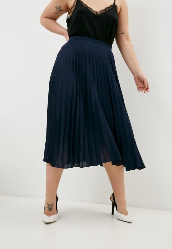 женская плиссированные юбка lauren ralph lauren woman, синяя