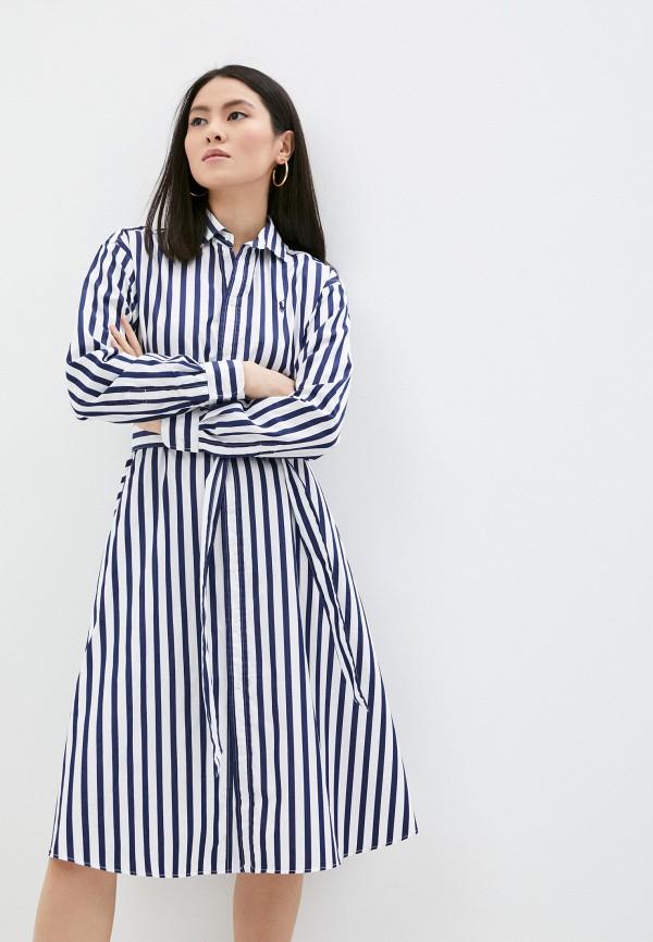 женское платье polo ralph lauren, синее