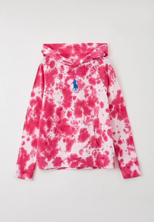 худи polo ralph lauren для девочки, розовые