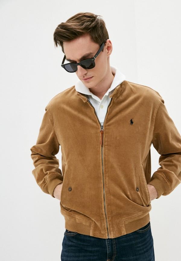 мужская куртка polo ralph lauren, коричневая