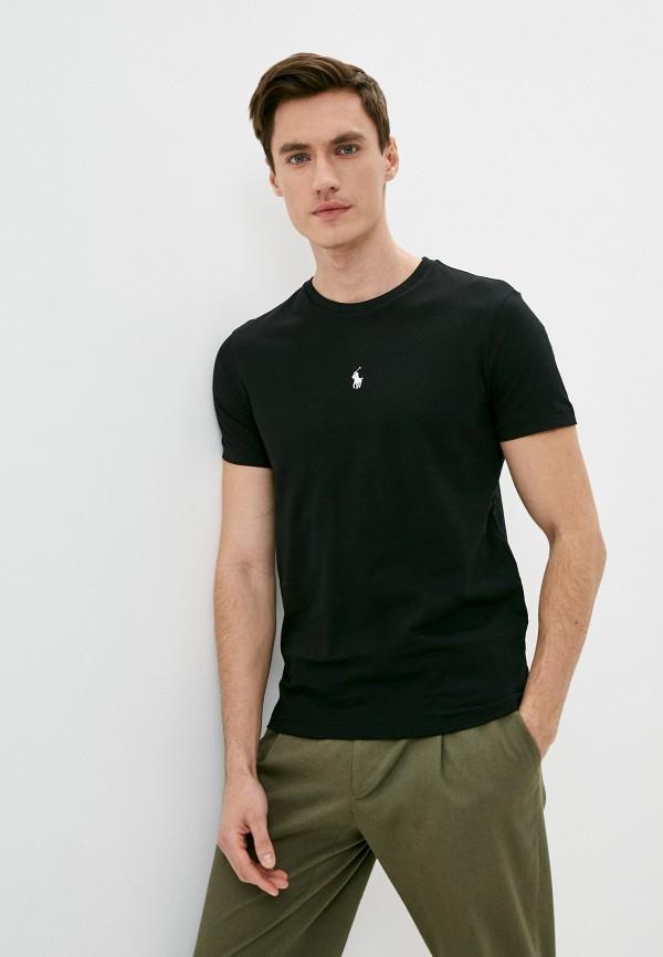 мужская футболка polo ralph lauren, черная