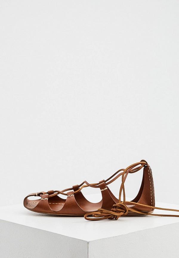 женские сандалии polo ralph lauren, коричневые