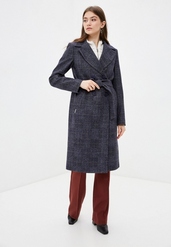 женское пальто shartrez, синее