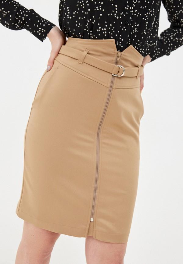 женская прямые юбка shartrez, бежевая