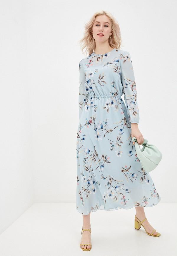 женское повседневные платье shartrez, голубое