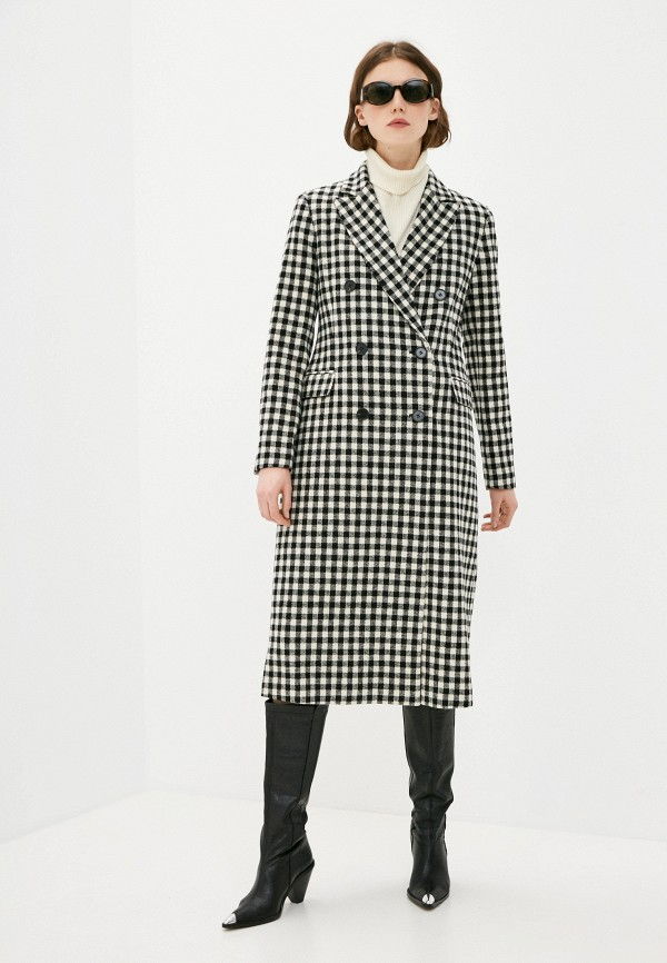 женское двубортные пальто 2nd day, черное