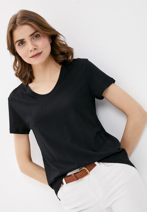 женская футболка denim culture, оранжевая