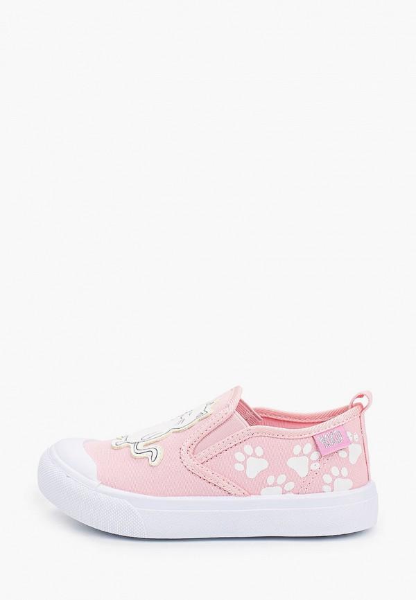 слипоны kakadu для девочки, розовые
