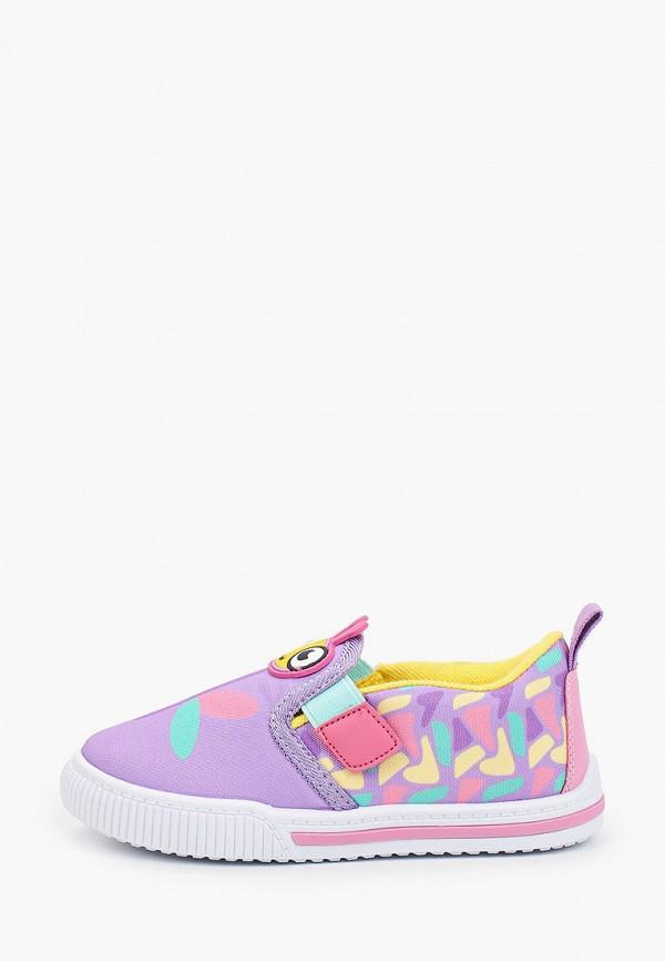 слипоны kakadu для девочки, фиолетовые
