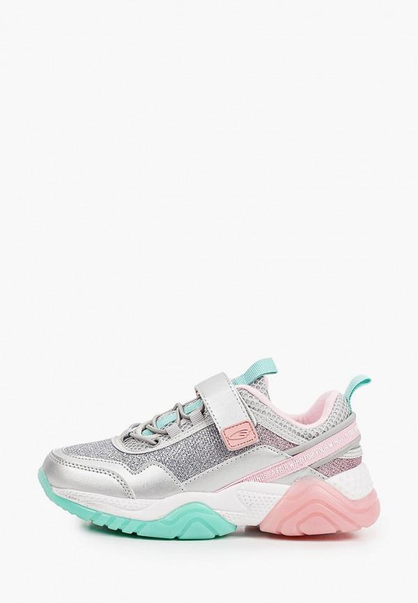 кроссовки kakadu для девочки, серебряные