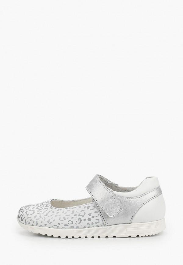 туфли юничел для девочки, серебряные