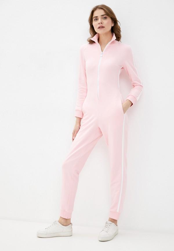женский комбинезон pink frost, розовый