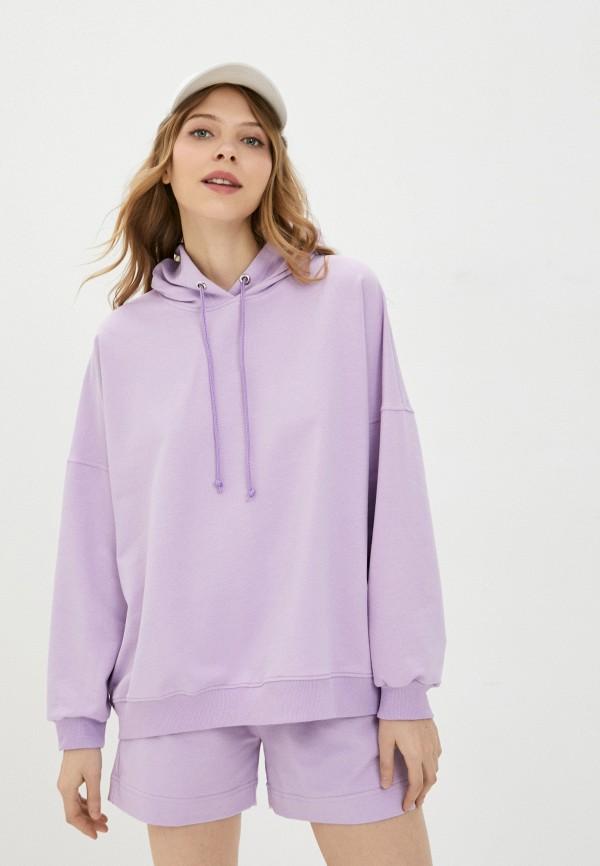 женские худи pink frost, фиолетовые