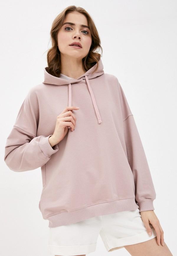 женские худи pink frost, розовые