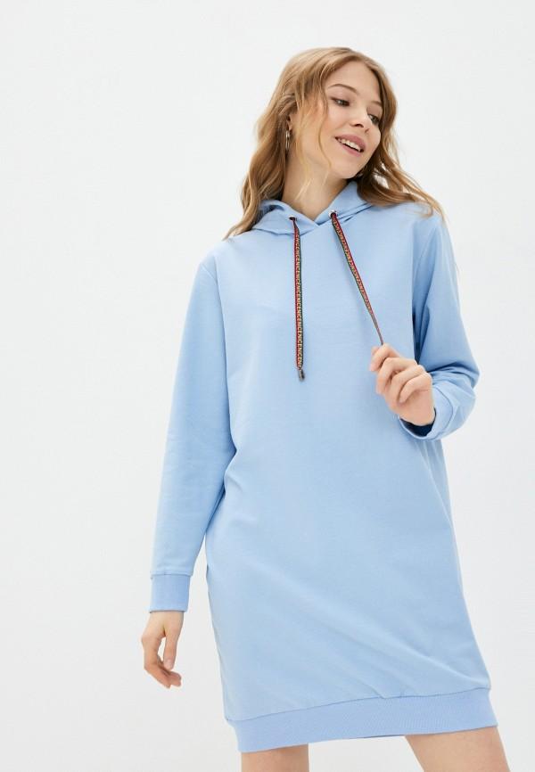 женское платье pink frost, голубое