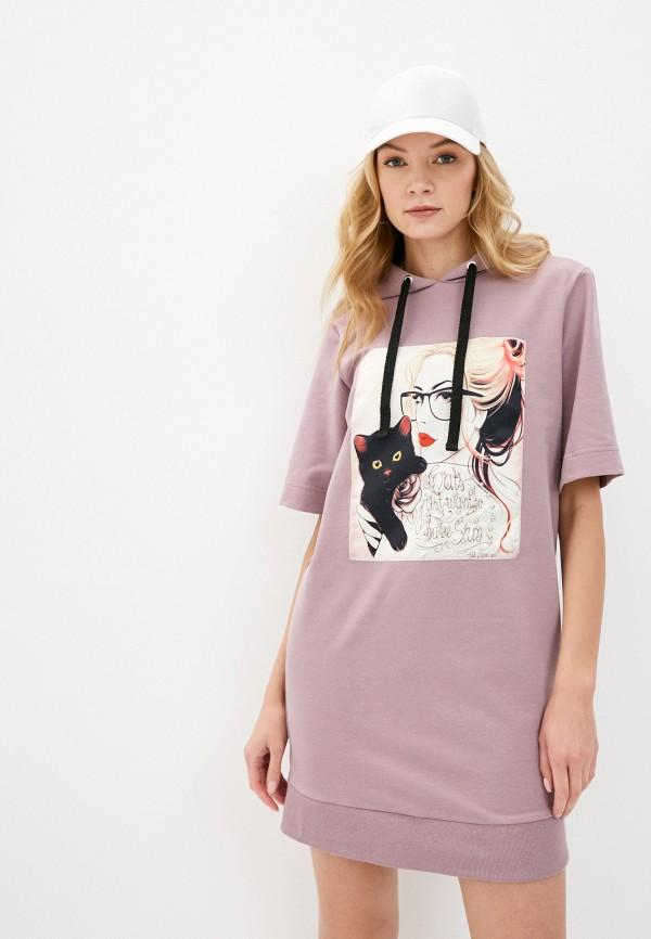 женское платье pink frost, фиолетовое