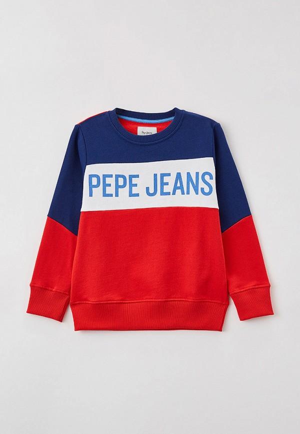 свитшот pepe jeans london для мальчика, разноцветный