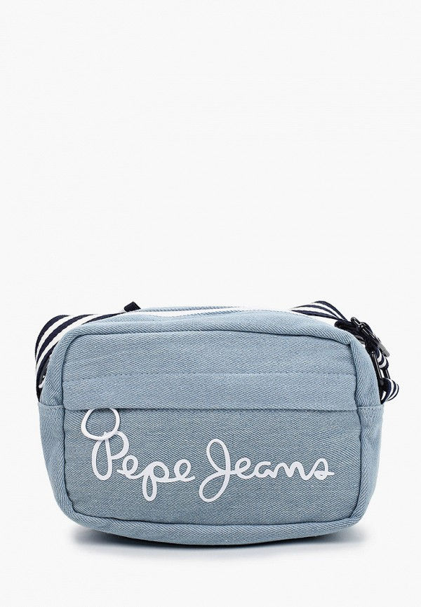 сумка pepe jeans london для девочки, голубая