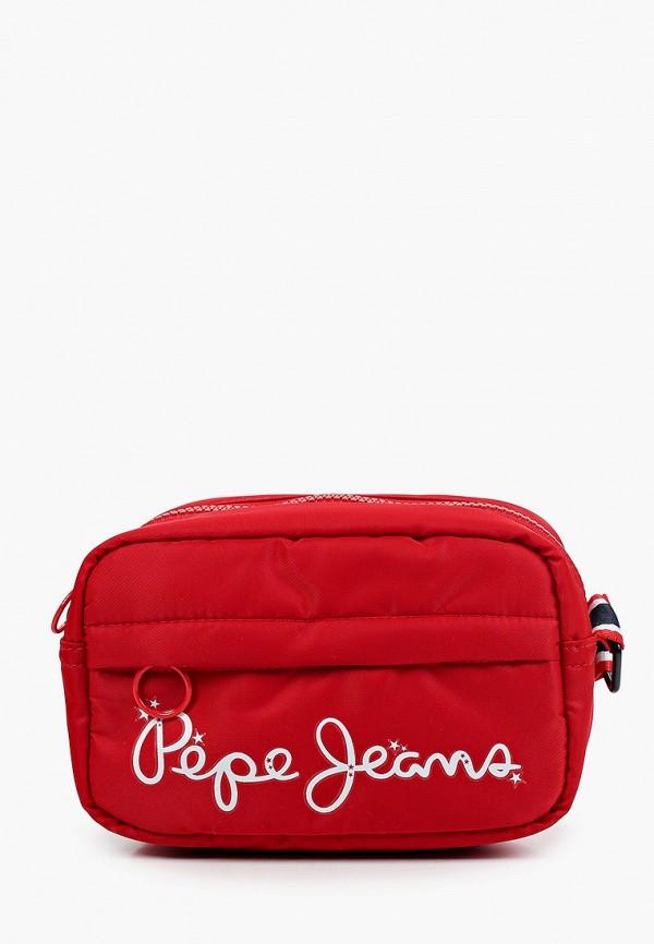 сумка pepe jeans london для девочки, красная