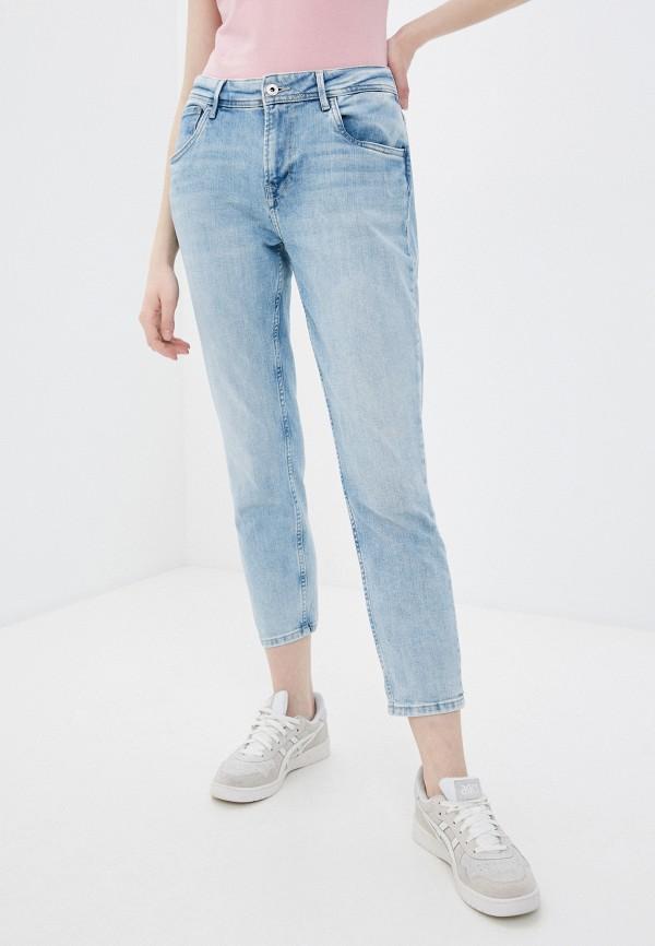 женские джинсы pepe jeans london, голубые