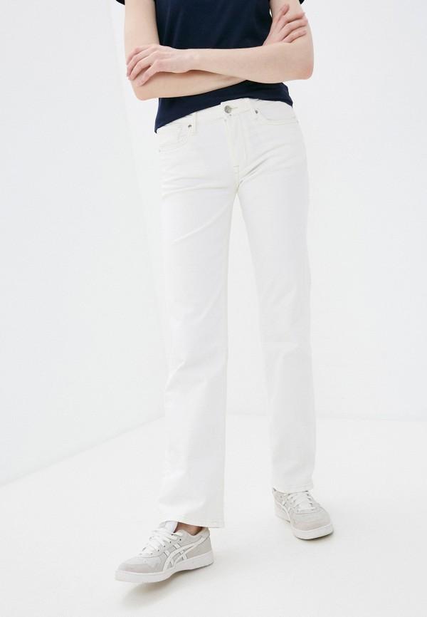 женские джинсы клеш pepe jeans london, белые