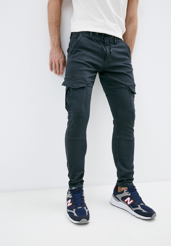 мужские брюки pepe jeans london, серые