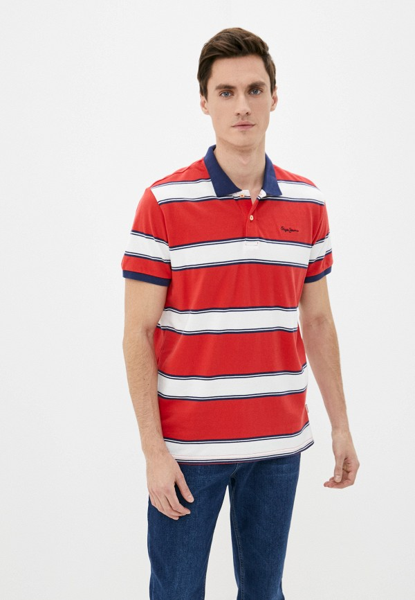 мужское поло pepe jeans london, красное