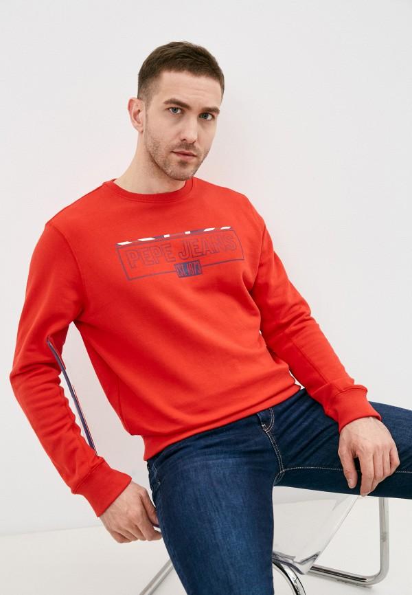мужской свитшот pepe jeans london, красный