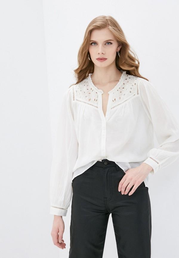 женская блузка pepe jeans london, белая