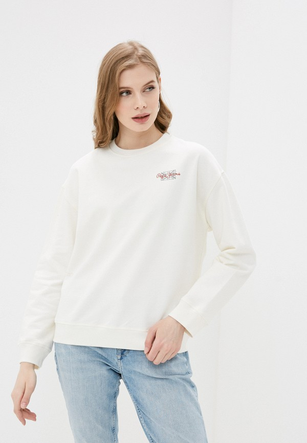 женский свитшот pepe jeans london, белый