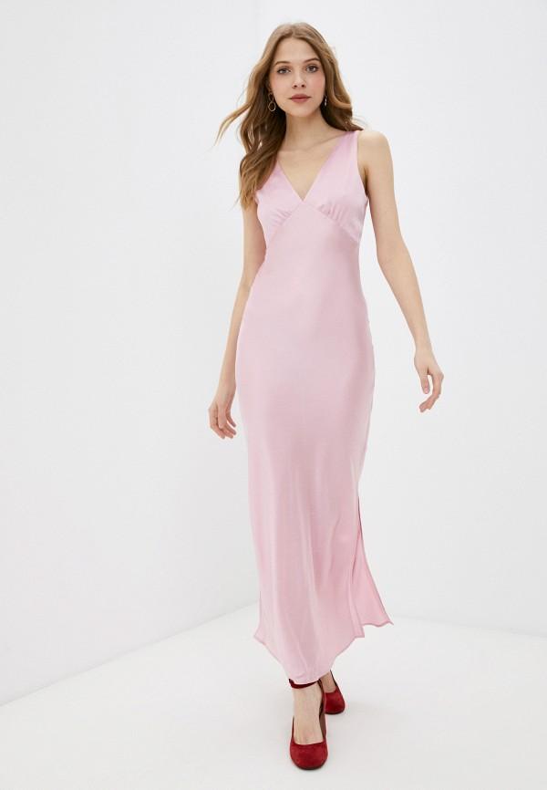 женское вечерние платье pepe jeans london, розовое