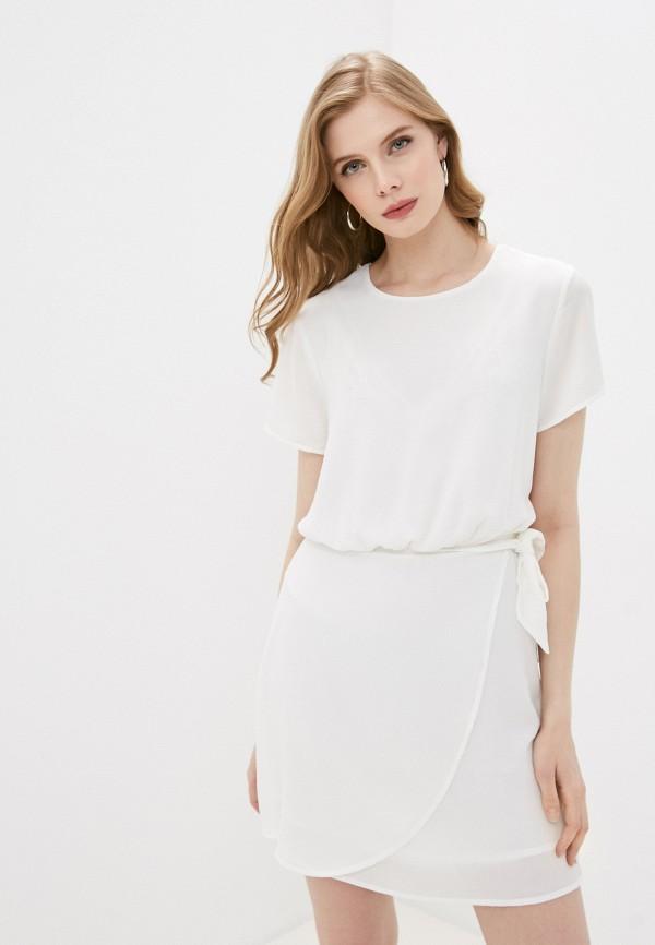 женское повседневные платье pepe jeans london, белое