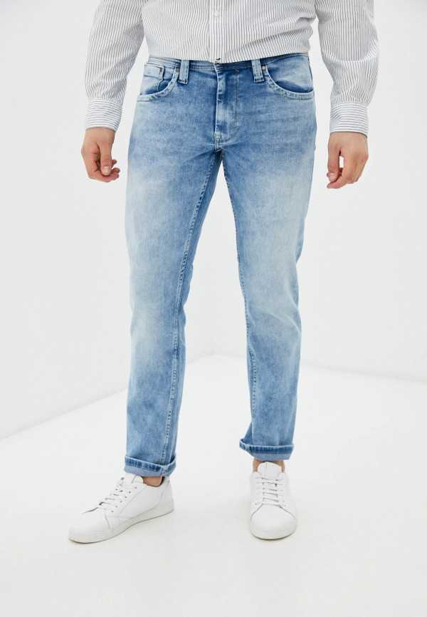 мужские прямые джинсы pepe jeans london, голубые