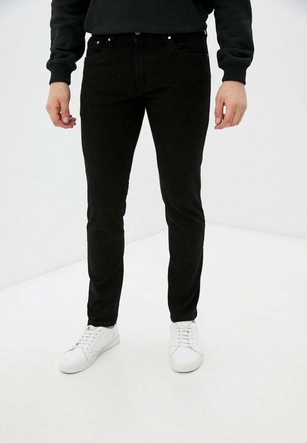 мужские зауженные джинсы pepe jeans london, черные