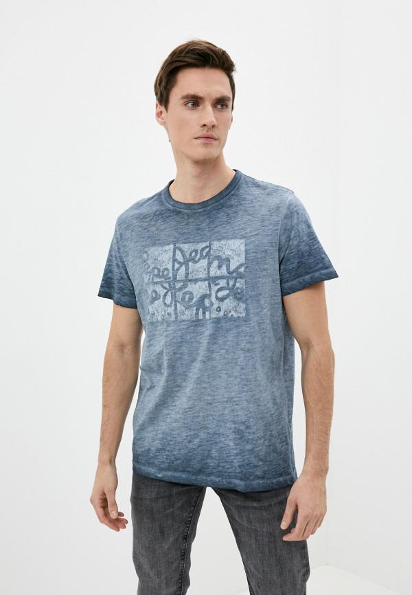 мужская футболка с коротким рукавом pepe jeans london, серая