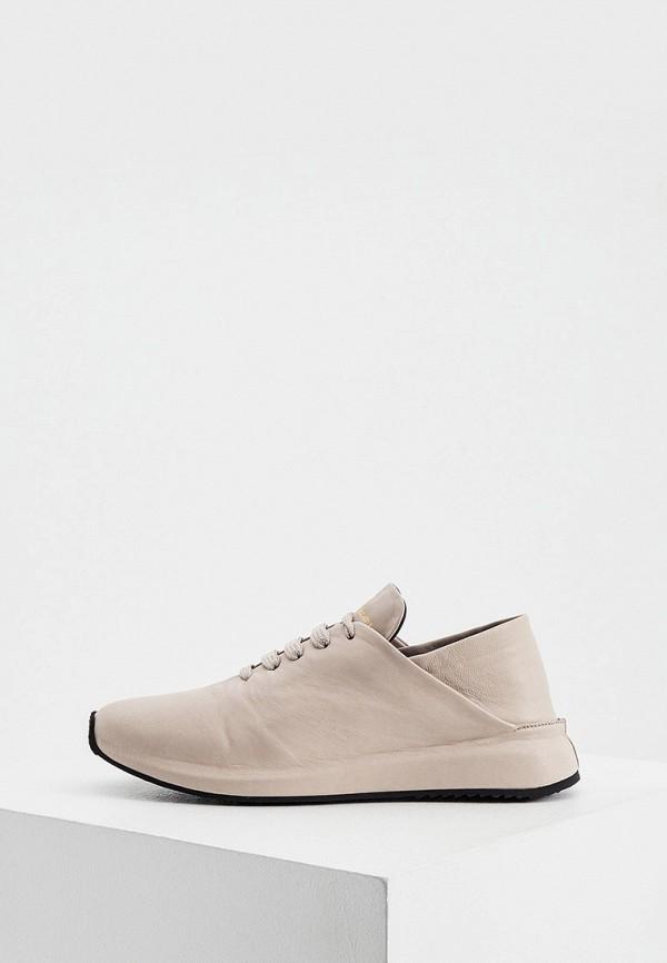 женские низкие кроссовки officine creative, бежевые