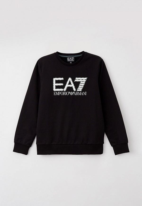 свитшот ea7 для мальчика, черный