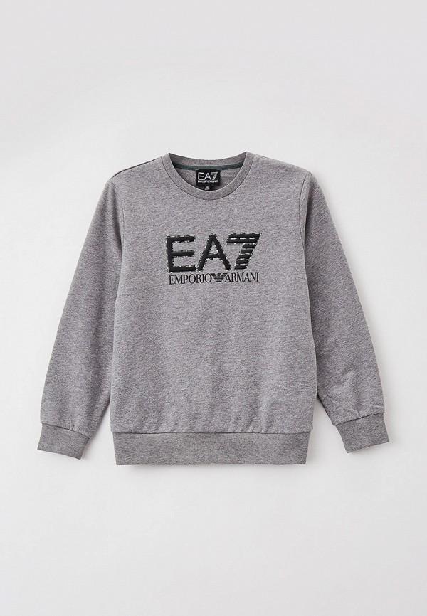 свитшот ea7 для мальчика, серый