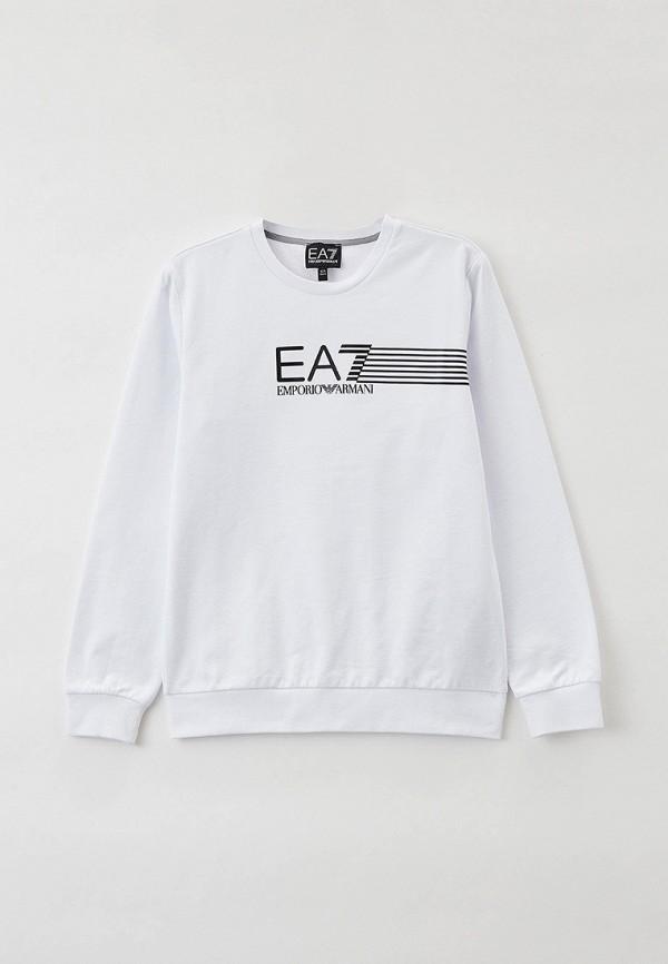 свитшот ea7 для мальчика, белый